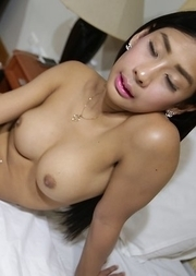 20yo sexy Thai ladyboy Arin rammed in the ass by white dick