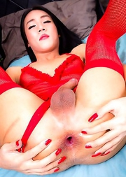 Beautiful Wenat is a gorgeous girl with a sexy slim body and a big hard cock!